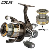 Goture Spinning Fishing Reel 7 1BB Double Drag Saltwater Reel With A Spare Spool