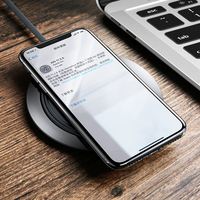Metal Age Wireless charger 10W Qi Wireless Charger Desktop Wireless Charging for Samsung Galaxy S9 S8 iPhone X 8 Xiaomi