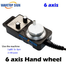 Handwheel pulse generator CNC electronic hand wheel 6 axis  MPG MPG diameter 80 DC5V 6pin pulse 100