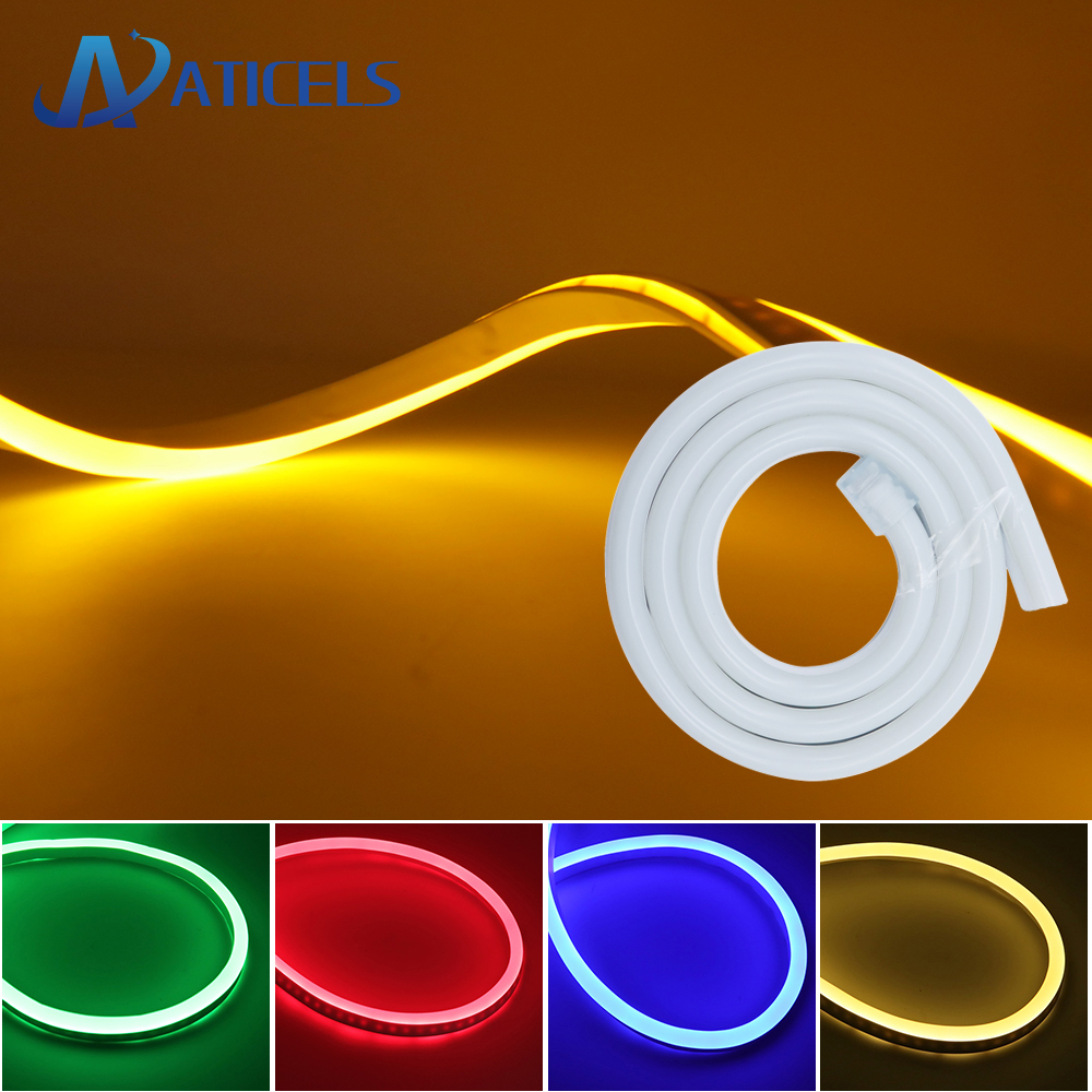 8mm LED Neon Flex DC 12V LED Neon Strip Light SMD 2835 120LEDs/m Waterproof Soft Rope Tube Outdoor Lighting Decoration Light
