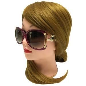 Image 5 - Sunglasses Women Luxury Brand Designer Ladies Alloy Frame Gold Fox Decoration Sun Glasses Girls 4 Colors