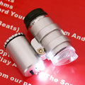 45X2 LED Mini Microscópio Portátil Lupa Lupa de Bolso Jeweler Lupas Lupa Lente de Vidro Grande Prata Instrumentos Ópticos