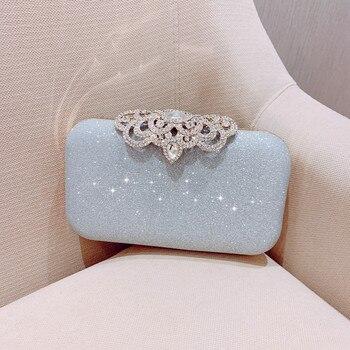 New fashion Sequined Scrub Clutch Women's Evening Bags Bling Day Clutches Gold Wedding Purse Female Handbag 2