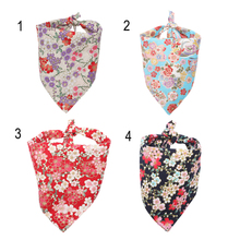 4 Colors 100% Cotton Handmade Personalized Dog Bandanas Triangular Bibs Scarf Accessories Japanese Style Size S L