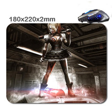 HOT SALES Custom Antiskid 3 D Harley Quinn Arkham Knight Mouse Pad 220 X180x2mm Office Accessory Tablet And Gift