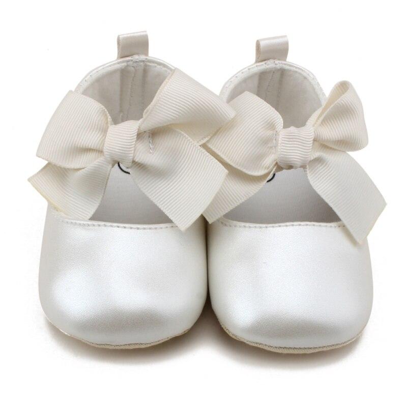 Toddler Soft PU Cute Princess Shoes Bow Infant Prewalker Baby Shoes 0-18 Months thumbnail