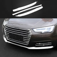 3x Stainless Front Lower Grill Grille Molding Guard Cover Trim For Audi A5 2018 & A4 B9 2017 2018