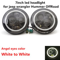 1 Pair 7 Inch LED Headlight For Jeep JK LJ CJ Hummer H1 H2 Front Driving