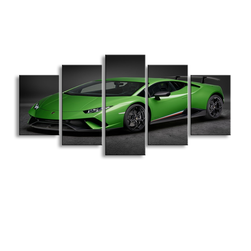 5 pieces high-definition print Sports car canvas oil painting poster and wall art living room picture C5-49