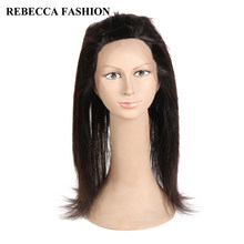Rebecca 360 Lace Frontal Closure With Baby Hair Malaysian Hair Straight 360 Lace Frontal 100% Remy Human Hair 130%(China)