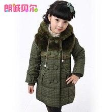 Детская одежда девочек осень зима 2013 ребенка хлопка-ватник верхняя одежда тепловой утолщение 12d1226