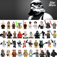 Single Sale Darth Vader Han Solo Yoda Building Blocks mini bricks figures Compatible Legoed duplo Star wars Toys for kids gifts