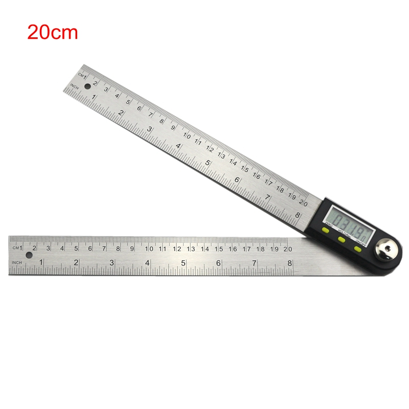 1pc Digital Angle Finder Ruler LCD Protractor 200mm Stainless Steel Angle Gauge
