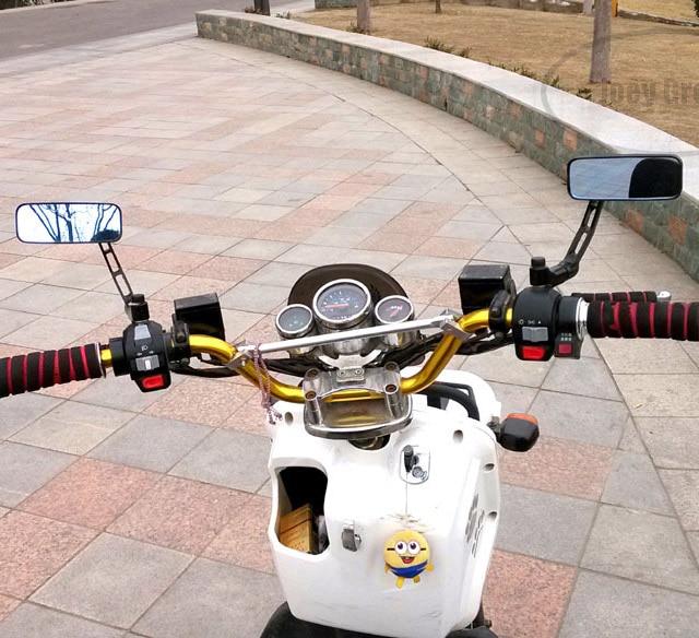 Gratis verzending, scooter motorfiets achteruitkijkspiegels aluminium - Motoraccessoires en onderdelen - Foto 3