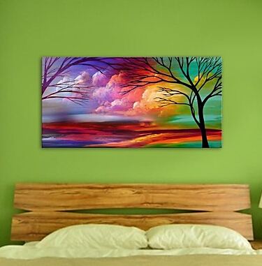 aliexpress com buy hand painted canvas modern landscape natural