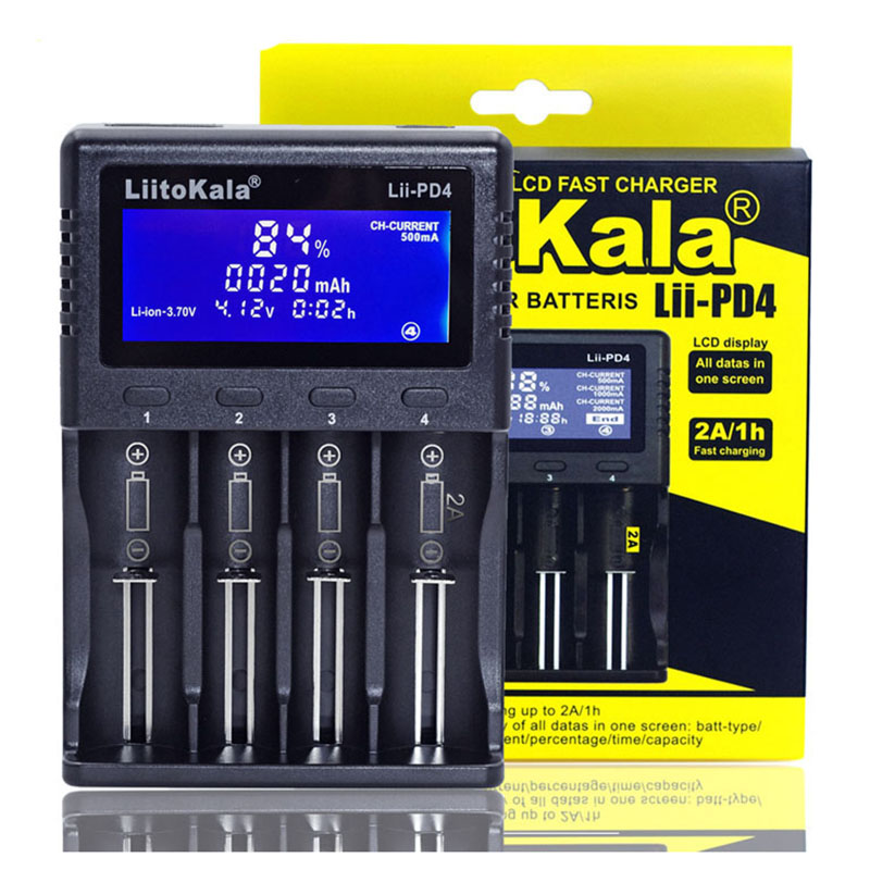 Image 3 - NEW Liitokala Lii S2 S4 PD4 402 202 100 18650 Battery Charger 1.2V 3.7V 3.2V AA21700 NiMH li ion battery Smart Charger+ 5V plug-in Chargers from Consumer Electronics