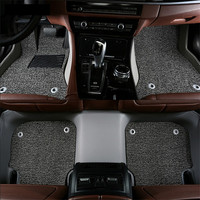 For Peugeot 508 2011.2012.2013.2014 Floor Mats Foot Carpets Step Mat High Quality Water Proof leather Wire coil 2 Layer