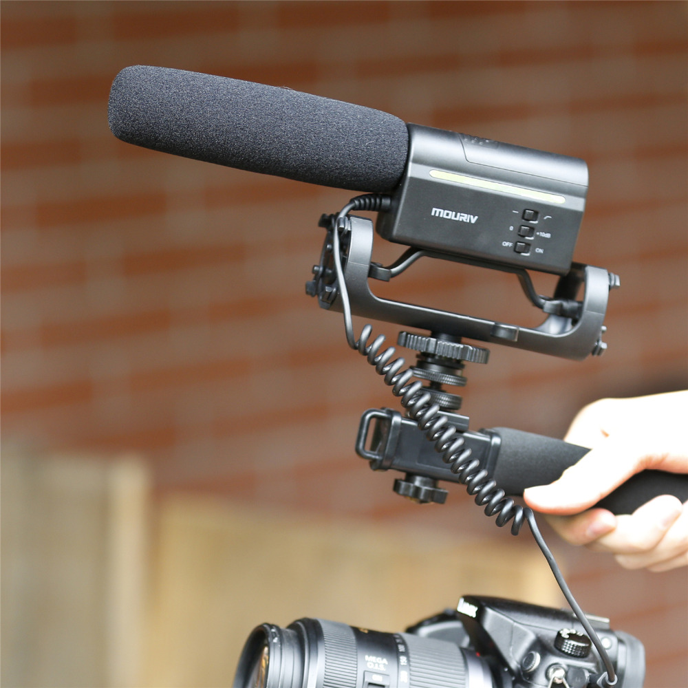 Color Negro Saramonic sr-m3/Mini-Microphone direccional de Condensador con suspensi/ón integrada para DSLR//Videoc/ámara