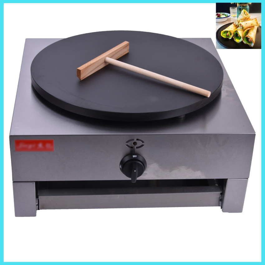 1PC FYA-1.R Gas Type Crepe Maker French Crepes Pancakes Naan Bread Maker With English Manual free shipping round type gas crepe machine french crepe maker