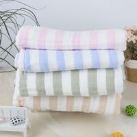 Bamboo Fiber Color Gauze Bath Towel Children's Summer Cool Blanket Baby Four layer Bamboo Cotton Towel Children