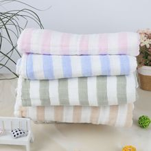 Bamboo Fiber Color Gauze Bath Towel Childrens Summer Cool Blanket Baby Four-layer Cotton Children