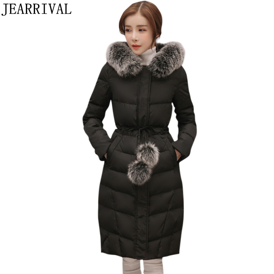 2017 New Winter Jacket Women Large Fur Hooded Cotton padded Parka Thicken Warm Ourwear Long Wadded Coat Loose Casacos Parkas 2017 new winter jacket women parka large fur collar hooded thicken coat slim medium long cotton padded big pocket warm parkas