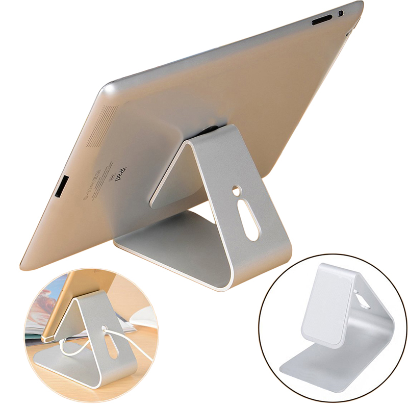 Nano Micro Suction Metal Frame Tablet Stand Phone Stand Aluminum Tablet Holder for iPad iPhone & Device with Smooth Surface HQ01