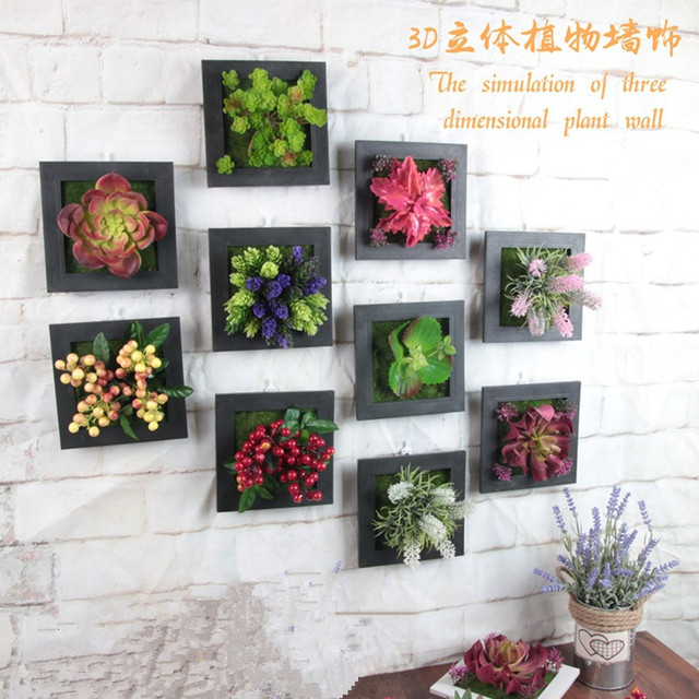 Artificial Plants Artificial Flowers Decorative Painting Stereo Photo Frame Bricolage Wall Hanging Fake Plants Home Decoration