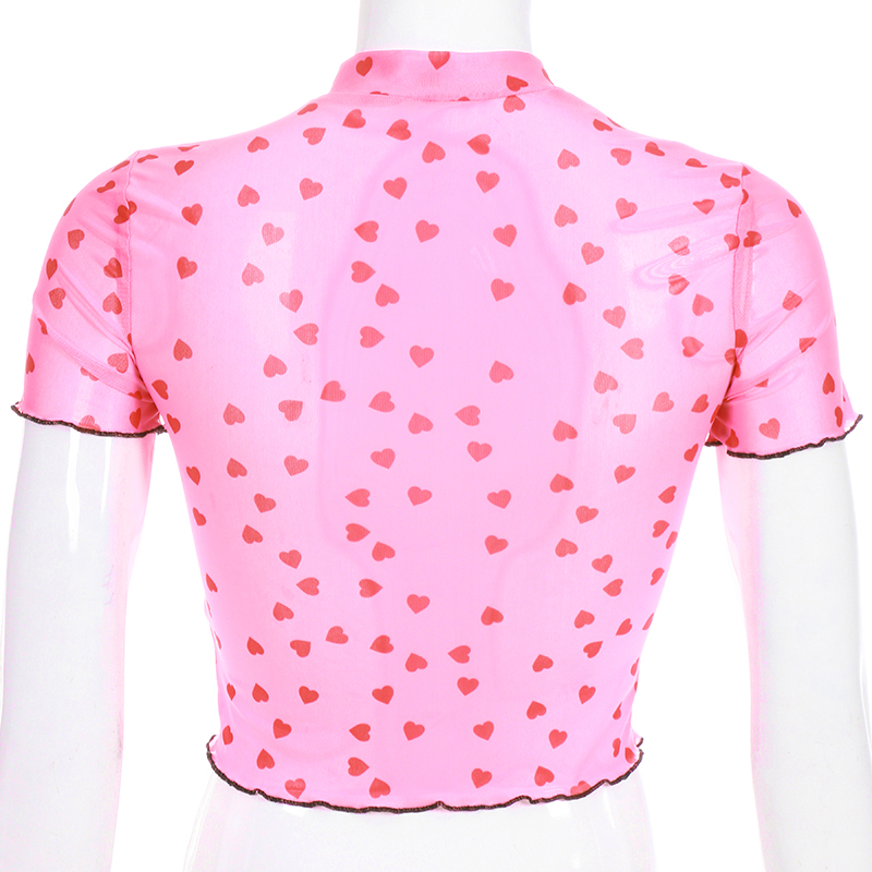 Casual Neon Green Mesh Top Female T-shirt Transparent Solid Short Sleeve Tops 2019 Summer Tshirt Tee Shirt Femme T-shirts Tops & Tees
