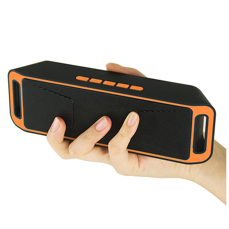 Mini Wireless Bluetooth Speaker USB FM Radio Stereo Super Bass MP3 Player Orange blue red