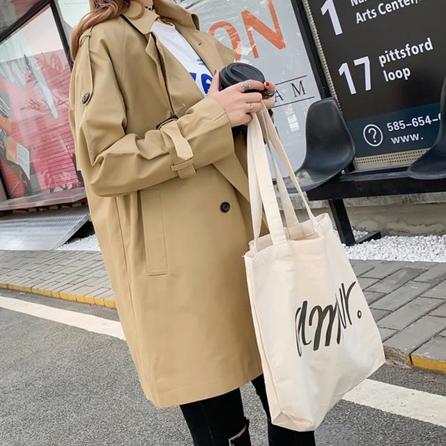 Fitaylor wiosna nowy Trench coat kobiety na co dzień średniej długi wiatrówka odzieży wierzchniej luźne podwójne piersi kobiet płaszcz