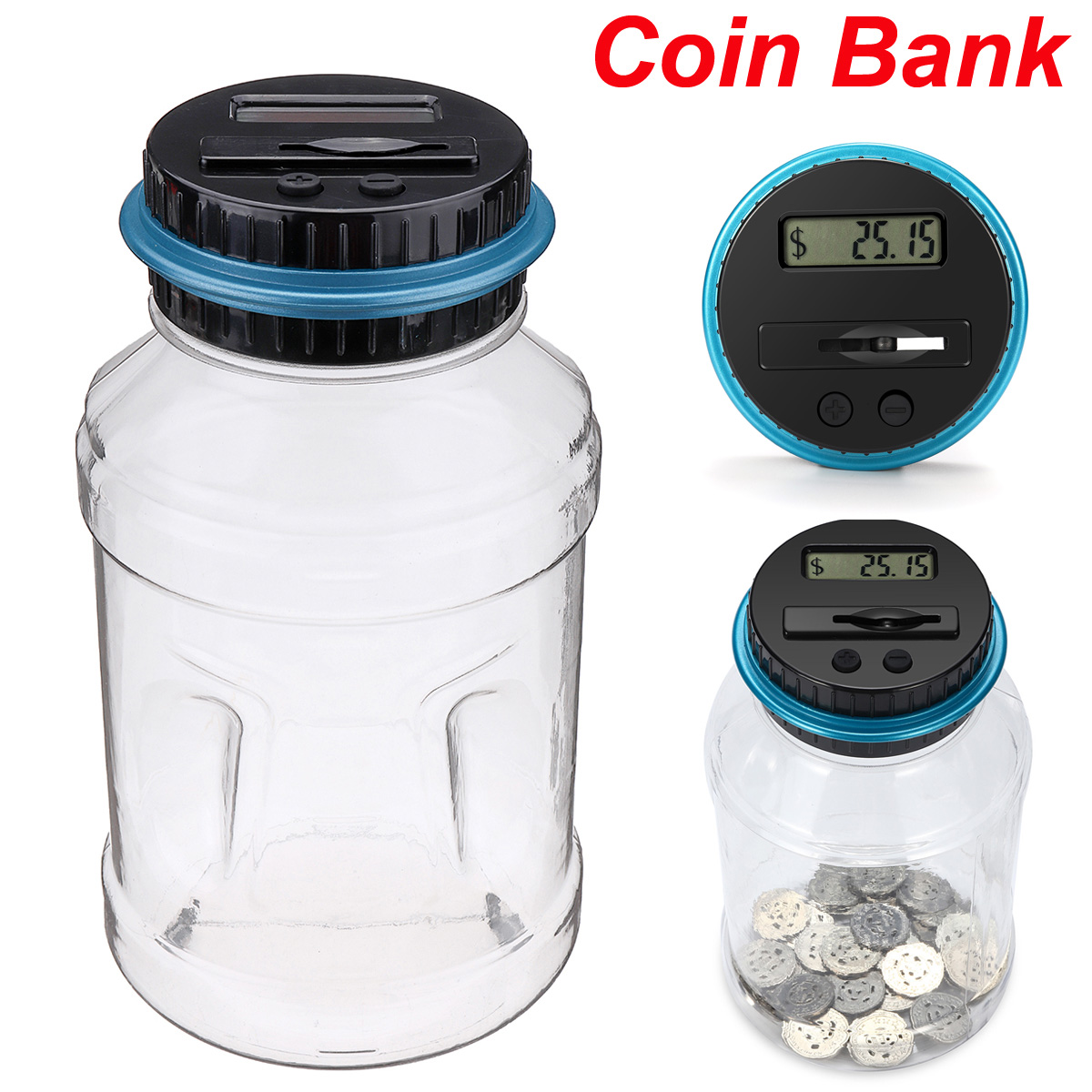 Comptage de monnaie Tirelire Numérique LCD Affichage Coin Tirelire Intelligente Électronique Coin Économie De Stockage Boîte De Collecte pour les AUD D'argent
