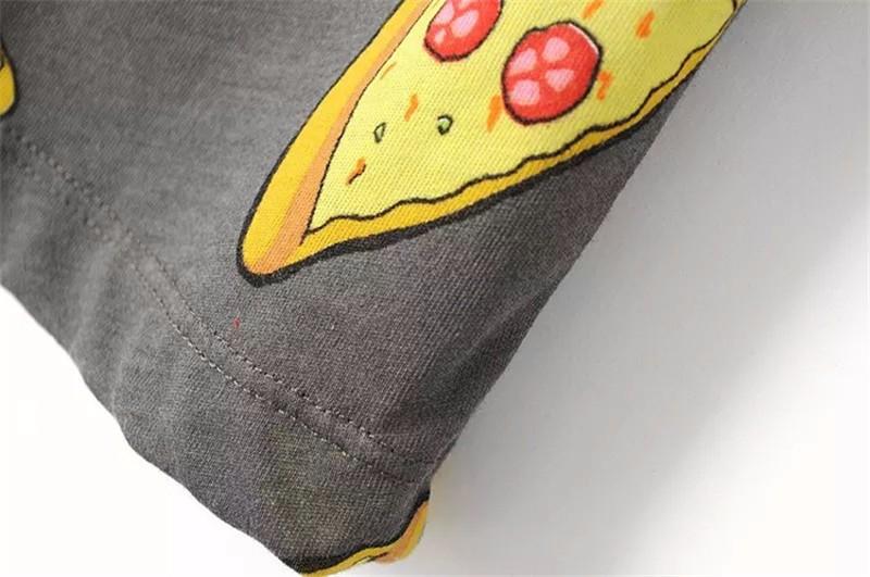 HTB1W28qOpXXXXXPXFXXq6xXFXXXx - No Drama Pizza Print Women T Shirts Short Sleeve