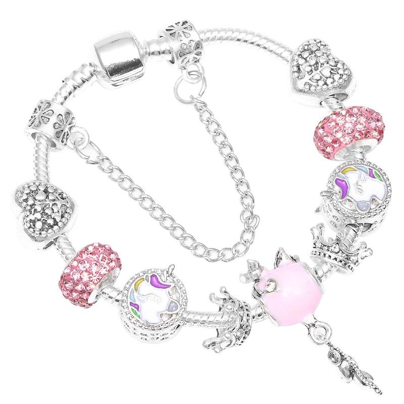 CHIELOYS Cute Cartoon Charm Bracelets With Enamel Mice Beads Fits European Original Brand Bracelet For Children Nice Gift пандора браслет с шармами
