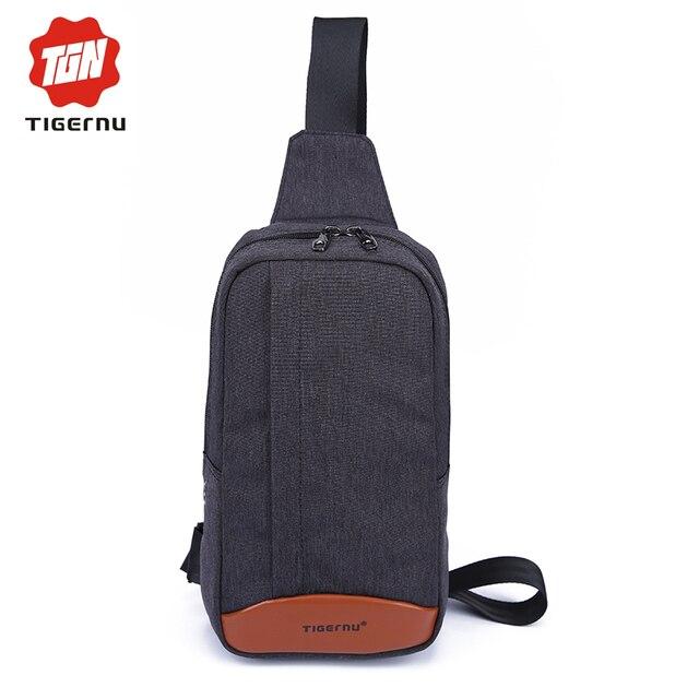 2017 Tigernu Men Functional Casual Military sling Business Briefcase Travel Chest bag Shoulder Bag For Women Crossbody Bag