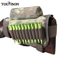 Tourbon Universal Cheek Rest Riser Pad Buttstock Rifle Cartridges Ammo Holder For Shooting Hunting Gun Accessorries