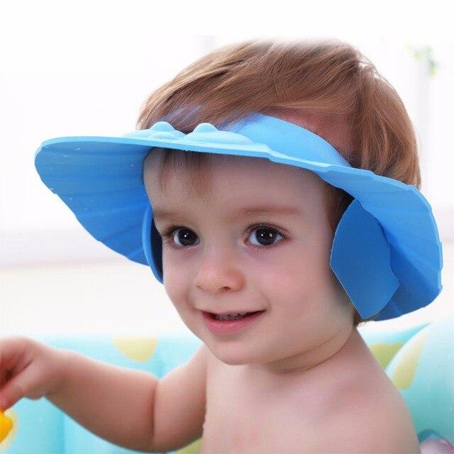 3d90242c508 Enfants Shampooing Doux de Bain De Bébé Réglable Bonnet De Douche  Shampooing Pour Enfants Tête gâteaux