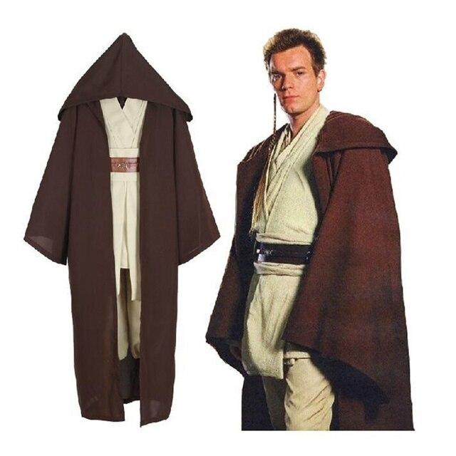 star wars revenge of the sith obiwan kenobi jedi knight cosplay costume halloween costumes for men