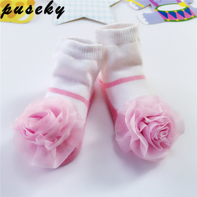 Puseky 0 24m baby socks lace flower bowknot ballet style infant puseky 0 24m baby socks lace flower bowknot ballet style infant girls socks meias baby negle Choice Image