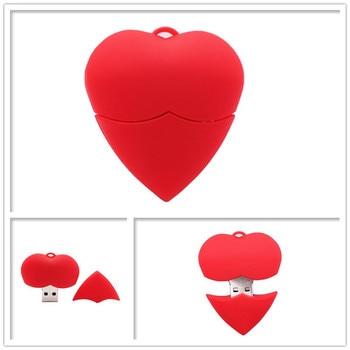 Pen drive cartoon heart usb flash drive 4GB 8GB 16GB 32GB 64GB cute memory stick u disk mini computer gift pendrive usb stick цена 2017