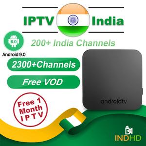 Image 1 - 인도 iptv 상자 km9 안 드 로이드 9.0 스마트 tv 상자 무료 1 개월 iptv 가입 인도 파키스탄 터키 영국 독일 아랍 프랑스 ip tv