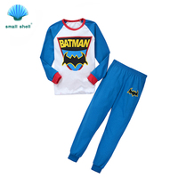 small shell 2016 autumn winter style children kids clothing sets baby girls clothes suits leisure wear batman printing F0062