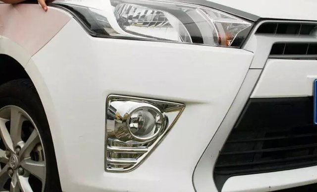 Car head fog light cover,auto front fog light bezel  for Toyota Yaris 2014 2015,ABS chrome,2pc/lot,free shipping