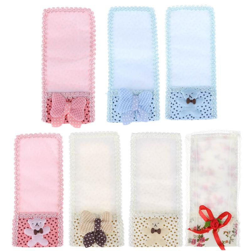 Fabric Butterfly Knot Bear case for TV remote control Air Conditioning Protect Cover anti-dust storage bag Organizer Small