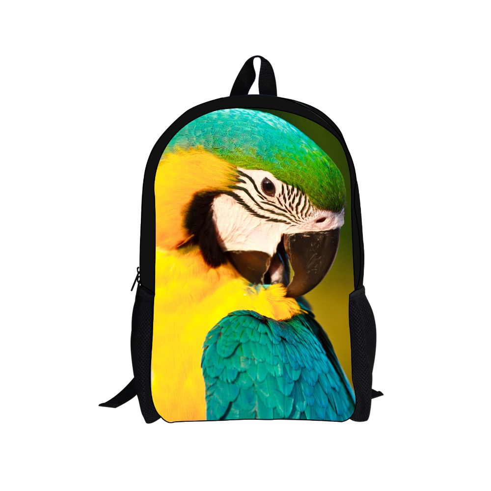 2016 New Arrival School Bags For Boys And Girls Schoolbags 3D Animals Owl Peacock Printing school Bag Mochila Bag for Students