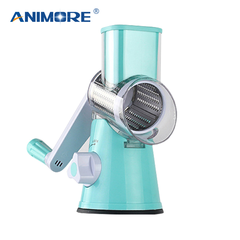 ANIMORE Manual Vegetable Cutter Slicer Kitchen Accessories Multifunctional Round Mandoline Slicer Potato Cheese Kitchen Tool multifunctional vegetable julienne shape cutter electric home potatoes fruit round mandoline slicer vegetable cutter machine