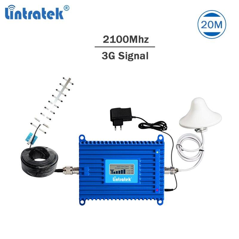 Amplificateur de Signal Lintratek 3G 2100 Mhz répéteur 3G 70dB AGC amplificateur de Signal 2100 répéteur UMTS bande 1 WCDMA 70dB Kit d'amplificateur #49