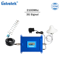Lintratek 3G Signal Booster 2100Mhz Repeater 3G 70dB AGC Signal Amplifier 2100 Repeater UMTS Band 1 WCDMA 70dB Amplifier Kit #49