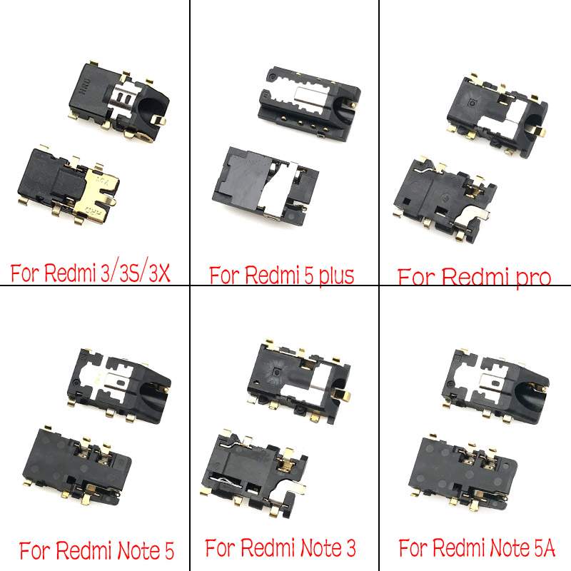 For Xiaomi Redmi 2 2A 3S 3X 4A 5 5A 6A Note 2 3 4 4X 5 5A 7 Pro  Earphone Headphone Jack Audio Flex