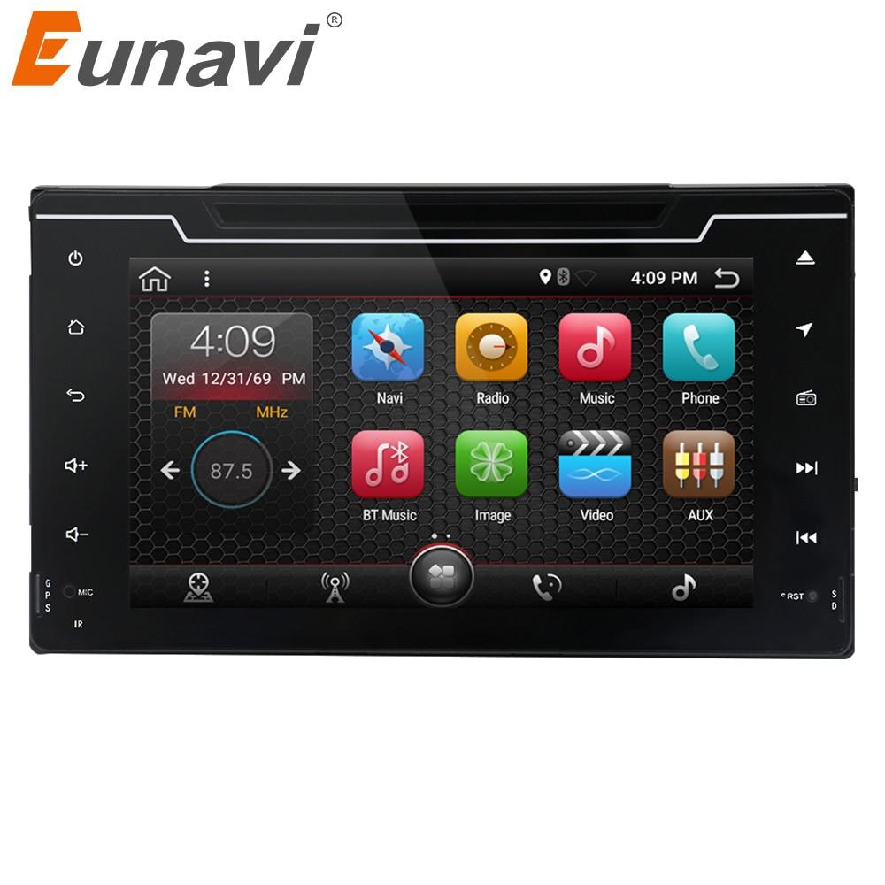 Eunavi 2 Din 8 Android 7.1 Quad core Car DVD Player For Toyota Corolla 2017 GPS Navigation Radio RDS Stereo 2G RAM WIFI USB